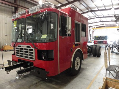 Ferrara Ember engine being built for the Lagrange FD (IL)