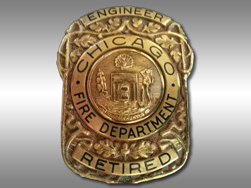 Chicago Fire Department retiree badge