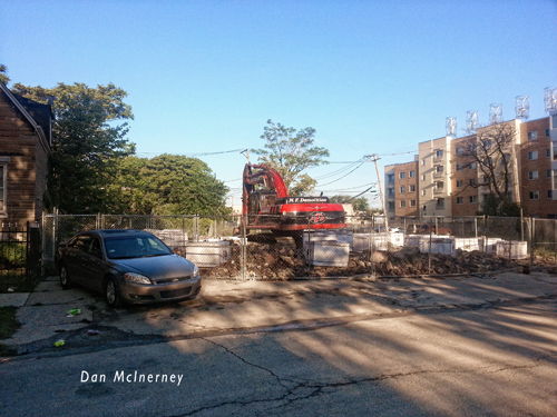 demolition of Chicago Fire Department Engine 77's house