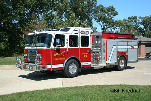 Homer Township FPD Engine 32 new engine