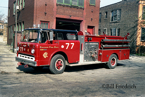 Chicago Engine 77 1970 Ford C8000 Ward LaFrance engine