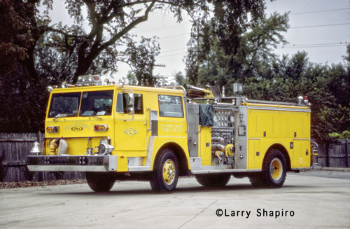 Elmhurst Fire Department historic fire apparatus photo