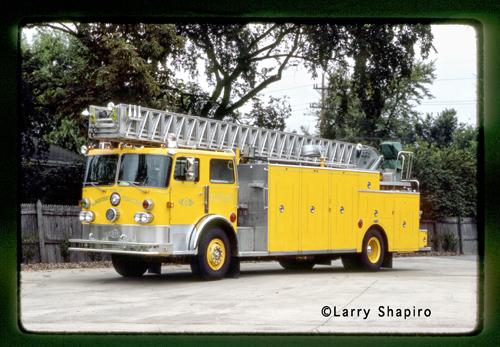 Elmhurst Fire Department Pirsch aerial ladder