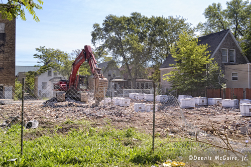 Chicago Fire Department Engine 77's house torn down