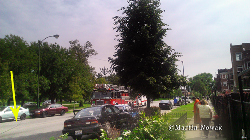 Motor vehicle accident on Kedzie Avenue in Chicago 9-5-12