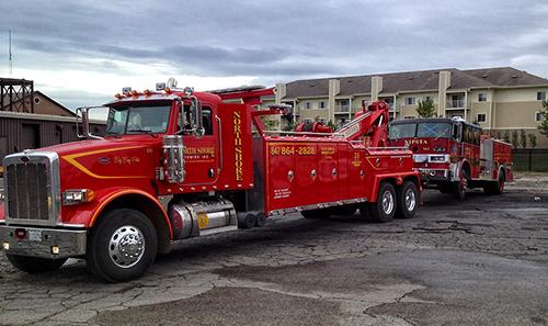 Former Schiller Park fire engine towed to scrap yard