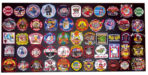 Chicago Fire Department company patch collection