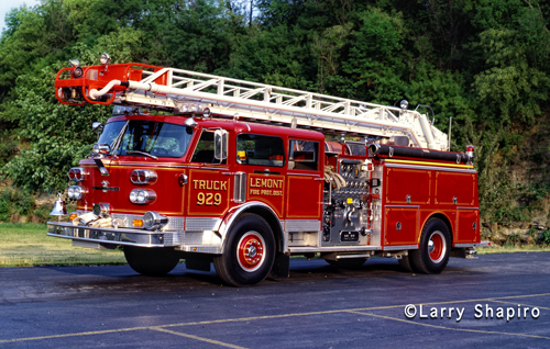 Lemont Fire Protection District American LaFrance Century Water Chief Quint