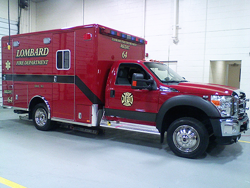 new ambulance for the Lombard Fire Department