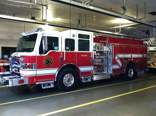 McHenry Township FPD new Pierce Impel engine