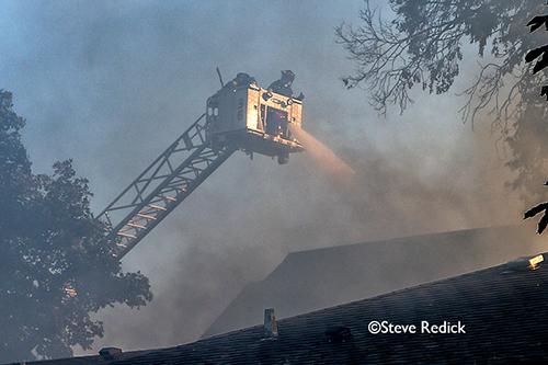 house fire on Wisner in Park Ridge 9-25-12