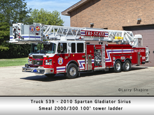 Tri-State Fire Protection District Smeal Tower Ladder 539