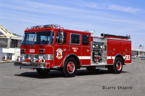 Tri-State Fire Protection District Pierce Arrow engine