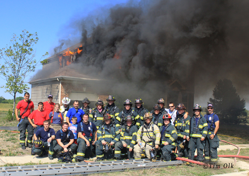 Woodstock Fire District live fire training 2012