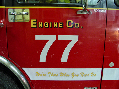 Chicago Fire Department  Engine 77's house on the day it was closed.
