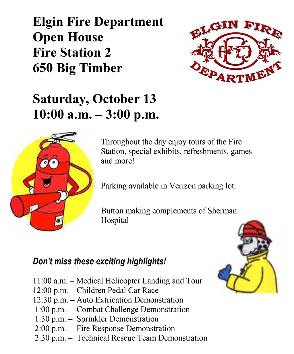 Elgine Fire Department Open House 2012