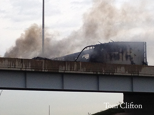 Truck fire on I55 ramp near Bolingbrook