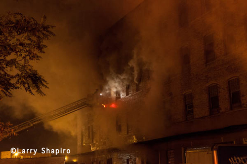 5-11 Alarm fire in a commercial warehouse in Chicago 9-30-12 on Nelson