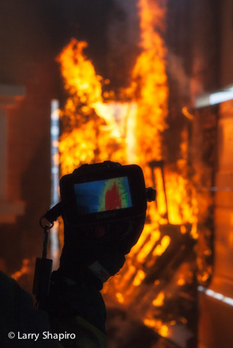 Woodstock Fire Rescue District training fire thermal imaging camera