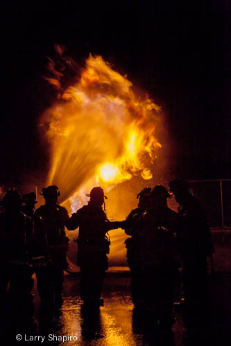 live fire training for propane fires heavy fire and flames