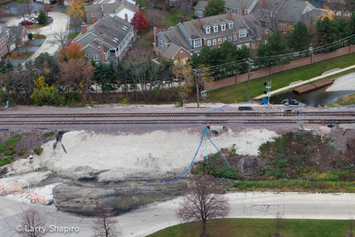 Northbrook train derailment at Shermer Road