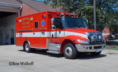Wheaton Fire Department Life Line ambulance