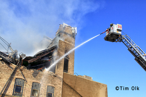 Chicago Fire Department 5-11 alarm fire 9-30-12 on Nelson