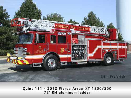 Addison Fire District Pierce Arrow XT quint