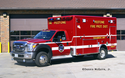 Peotone Fire Department Ambulance 14 Horton