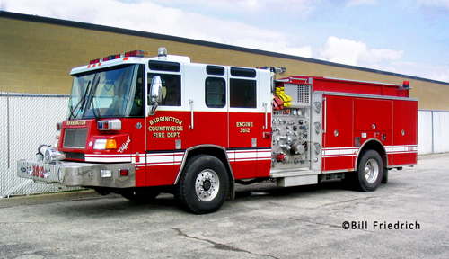 Barrington Fire Department Pierce Quantum engine