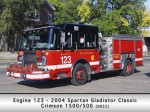 Chicago Fire Department Engine 123 Spartan Crimson