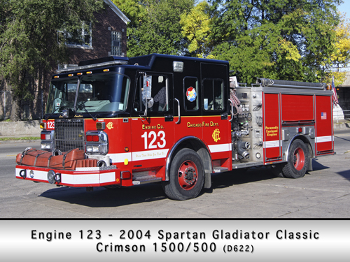 Chicago Fire Department Engine 123 Spartan Crimson