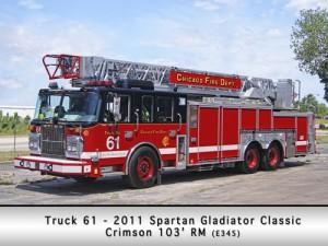 Chicago Fire Department Spartan Crimson Truck 61