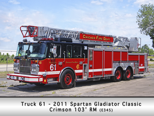 Chicago Fire Department Spartan Crimson Truck 61