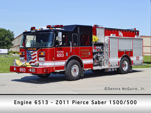 Chicago Ridge Fire Department Pierce engine