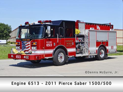 Chicago Ridge Fire Department Pierce engine