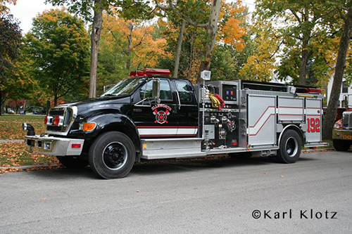 Ellsworth Fire Department black fire engien