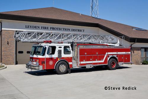 Leyden Township FPD truck