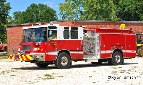 Gibson Fire Department Pierce Quantum fire engine