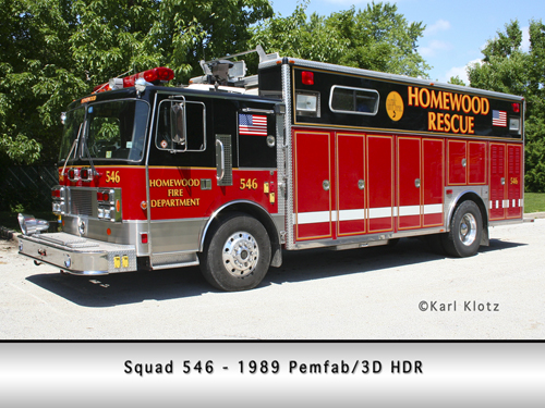 Homewood Fire Department heavy rescue squad
