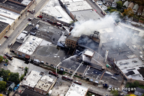 Chicago Fire Department 5-11 alarm massive warehouse fire 9-30-12 at 2620 W. Nelson