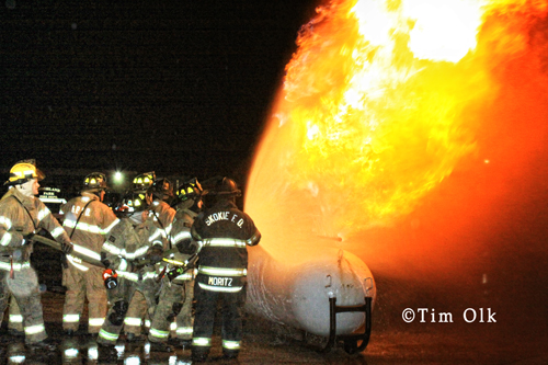 Highland Park Fire Department liquid propane fire training