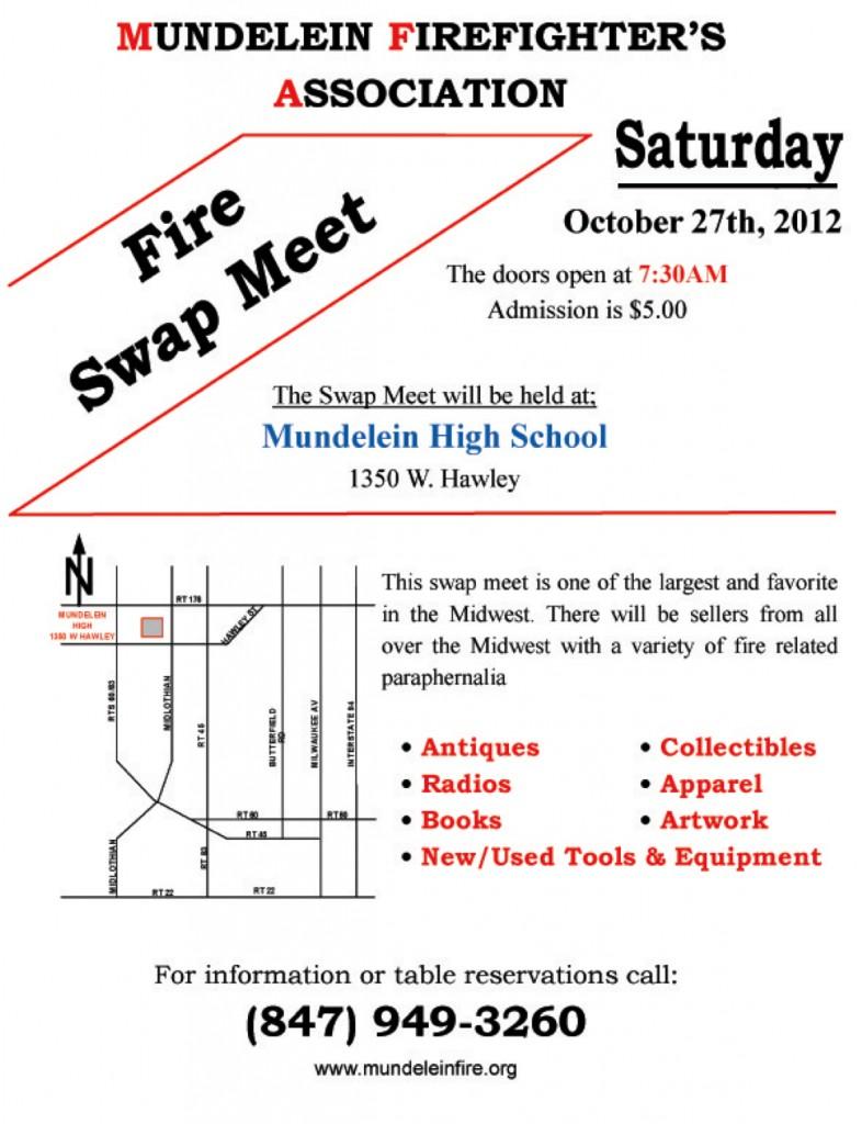 Mundelein Fire Department swap meet