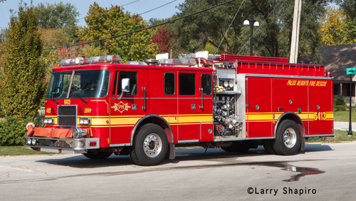 Palos Heights Fire Protection District Pierce Lance engine
