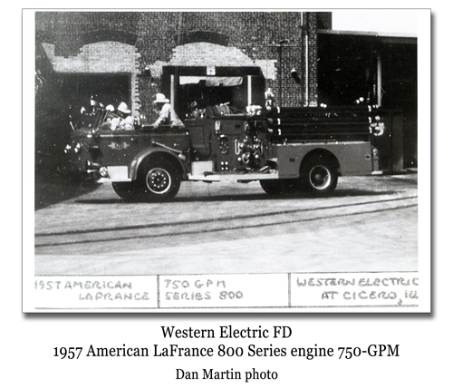 Western Electric Fire Department Cicero, IL American LaFrance 800 Series