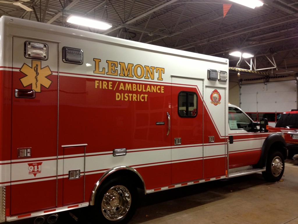 Lemont Fire Protection District ambulance