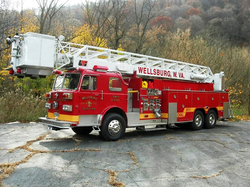 Wellsburg WV VFD tower ladder