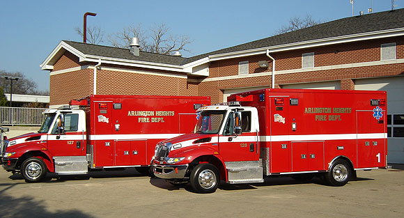 new ambulances for Arlington Heights Fire Department