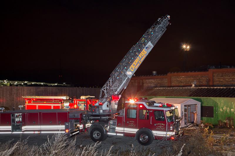 Cicero Fire Department tiller tractor-drawn aerial
