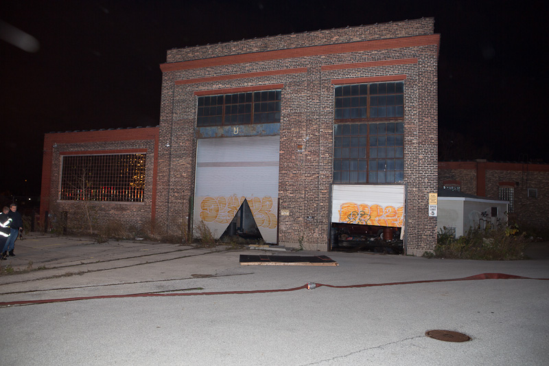 Cicero Fire Department fire in railroad roundhouse